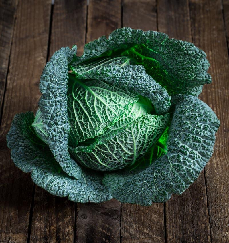 savoy капусты свежий стоковые изображения