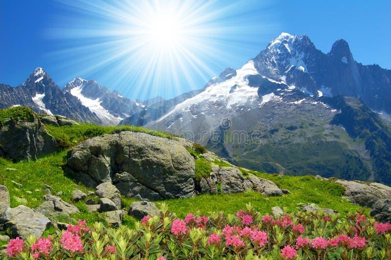 Download Savoy Alps stock image. Image of range, sunlight, mountain - 12456383