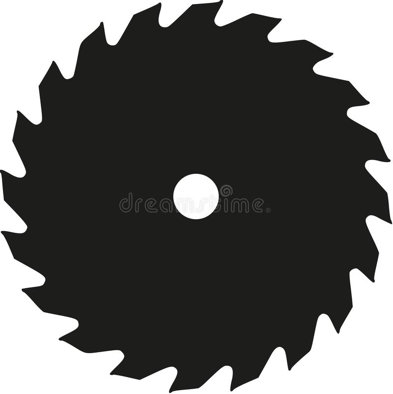 Saw blade vector. Saw blade tool chainsaw vector royalty free illustration