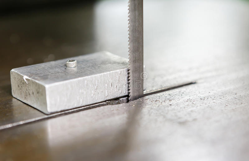 Saw for cutting aluminum royalty free stock photography