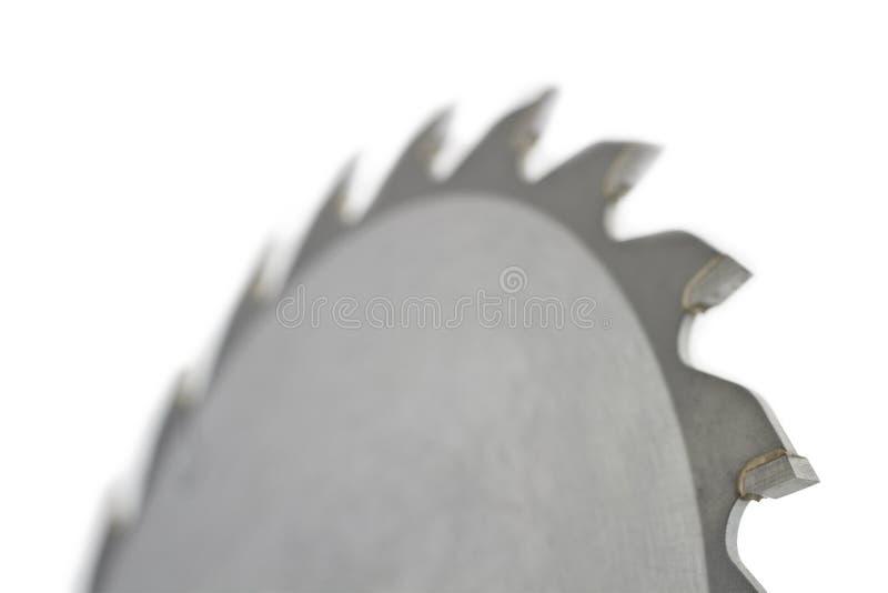 saw för bakgrundsbladclose upp white arkivbild