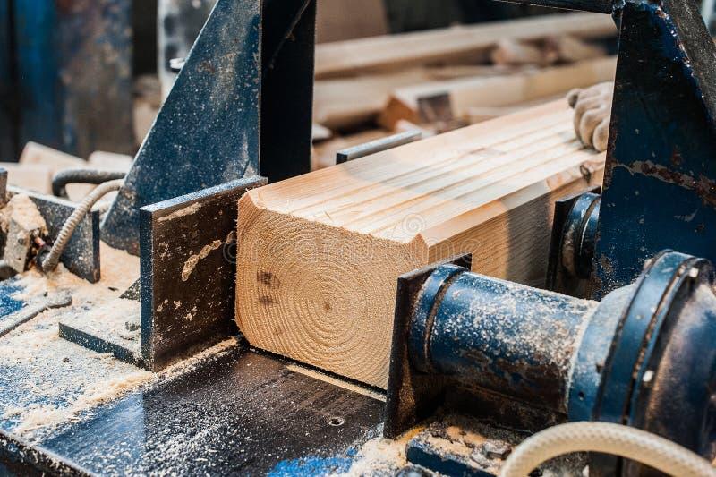 saw för bladcircularclose som skjutas upp Snickare Using Circular Saw för trä fotografering för bildbyråer