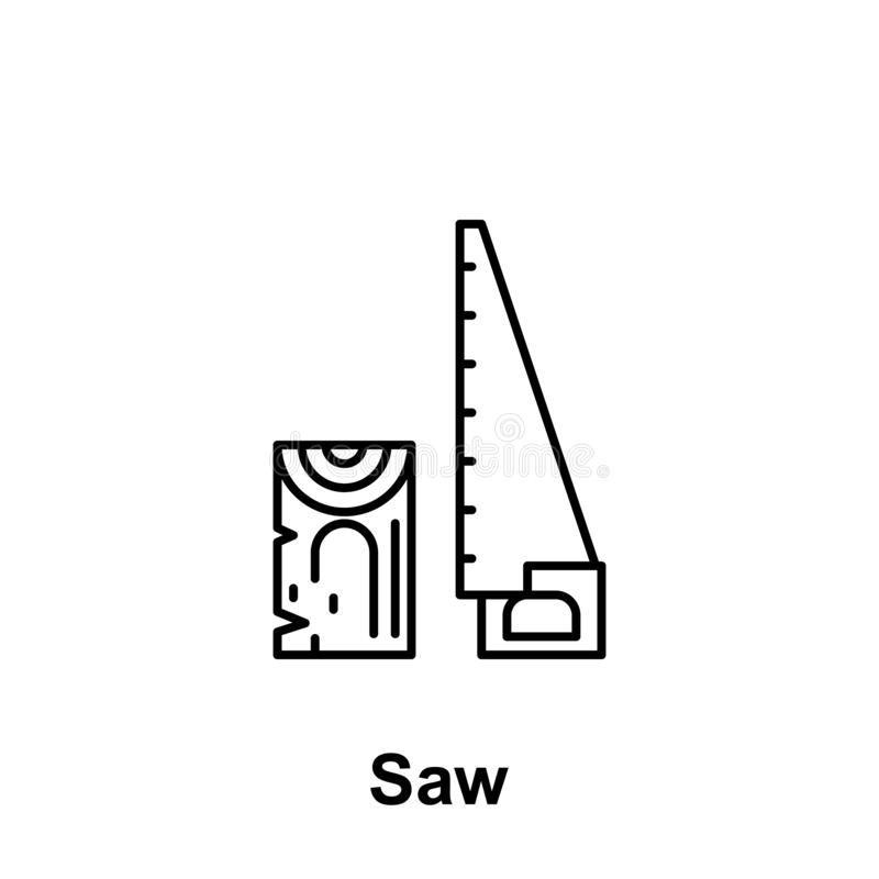 Saw konturu ikona Element święto pracy ilustracji ikona Znaki i symbole mogą używać dla sieci, logo, mobilny app, UI, UX ilustracji