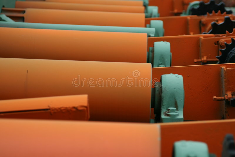 Saw Mill Rollers royalty free stock photos