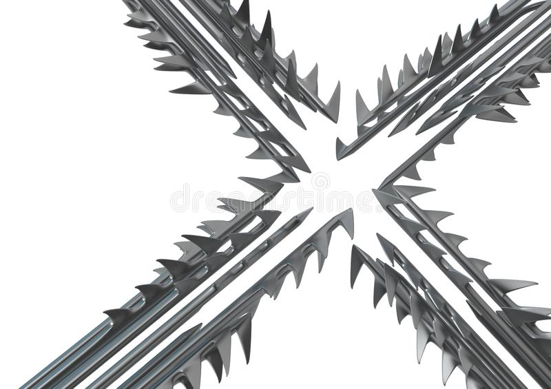 Saw Tooth Harpoons Cross Abstract royalty free stock images