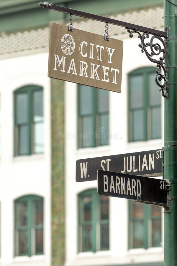 Sawanny miasta rynek obrazy royalty free