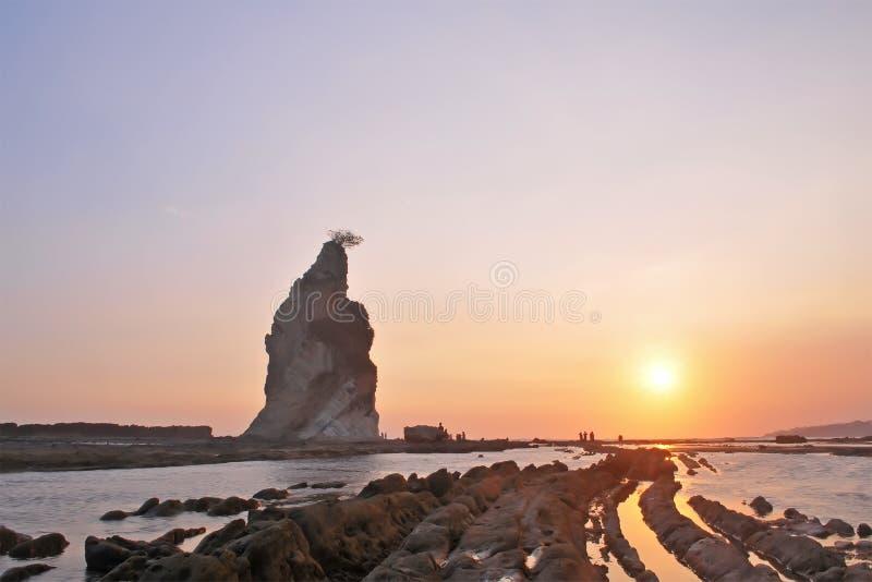 Sawarna great rock. Great rock at sawarna beach in banten, indonesia royalty free stock image