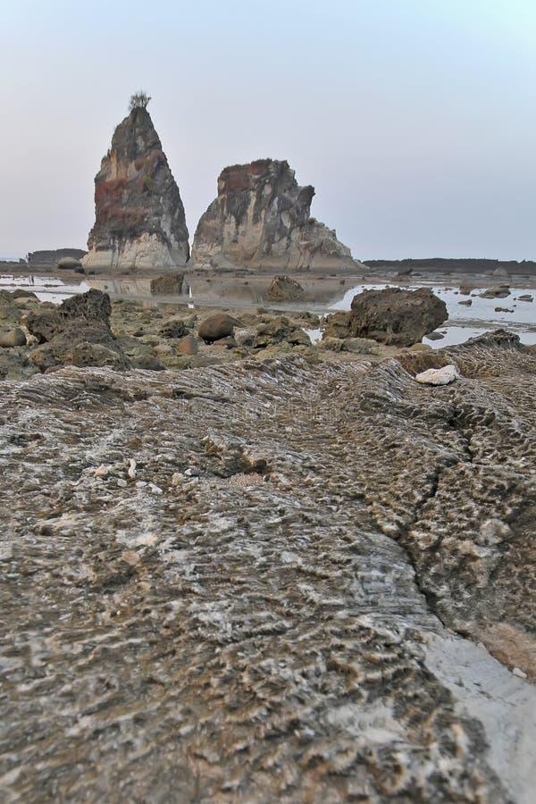 Sawarna great rock. View Great rock at sawarna beach in banten, indonesia stock images