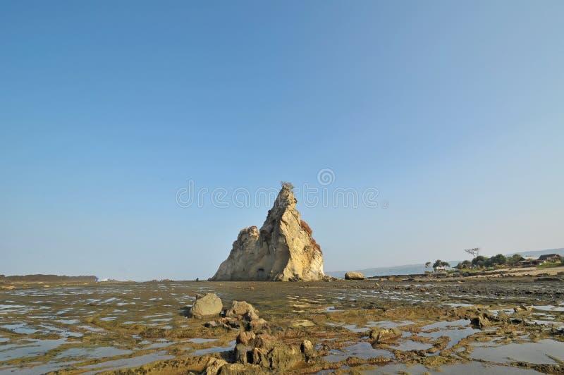 Sawarna great rock. Great rock at sawarna beach in banten, indonesia royalty free stock photography
