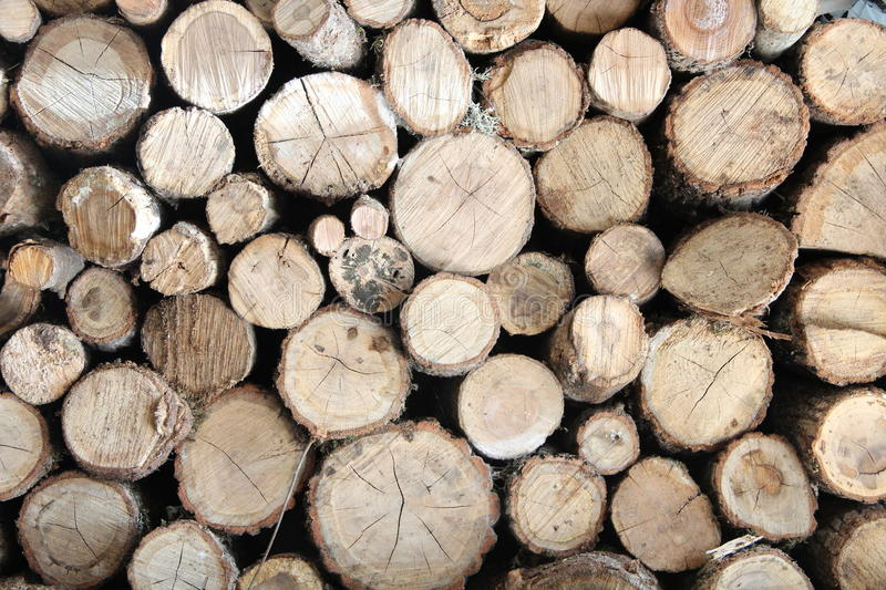 The sawed fire wood royalty free stock images