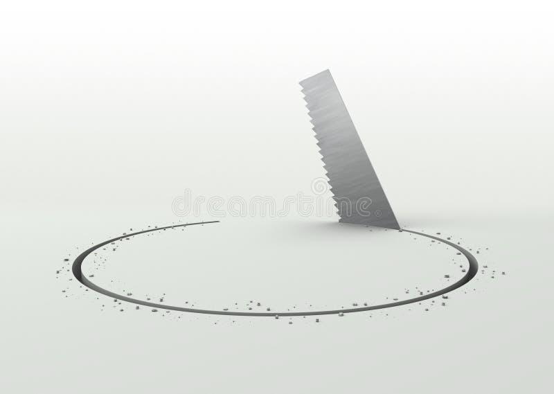 Sawing illustrazione vettoriale