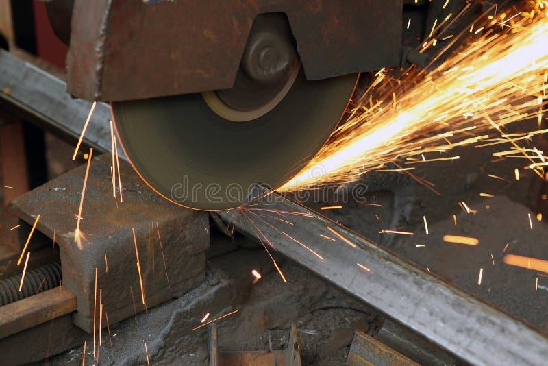 Download Sawing metal stock image. Image of turning, power, machine - 17016221