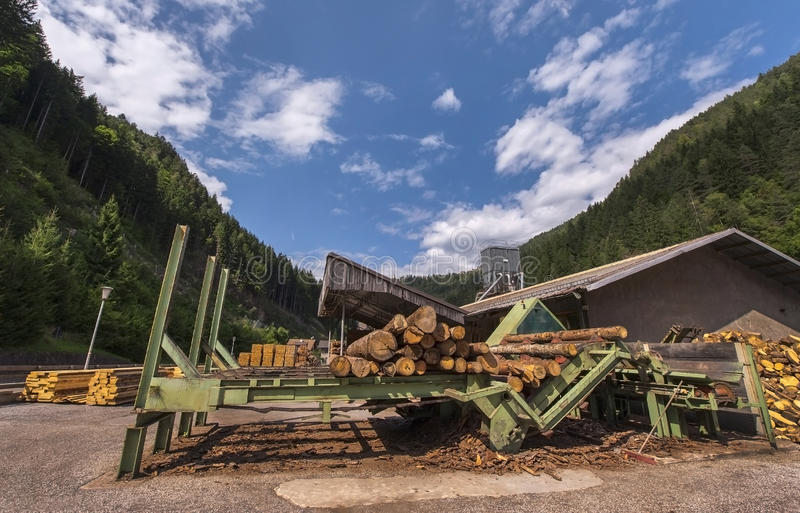 At the Sawmill stock image