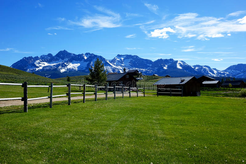 Sawtooth góry - Stanley, Idaho zdjęcia royalty free