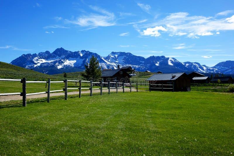 Sawtooth Mountains - Stanley, Idaho royalty free stock photos