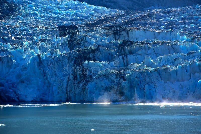 Sawyer Glacier Alaska i Tracy Arm Fjord royaltyfri bild