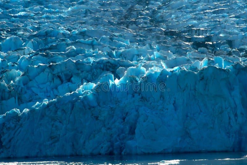 Sawyer Glacier nära Juneau Alaska royaltyfria bilder