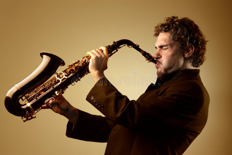 Sax royalty free stock photos