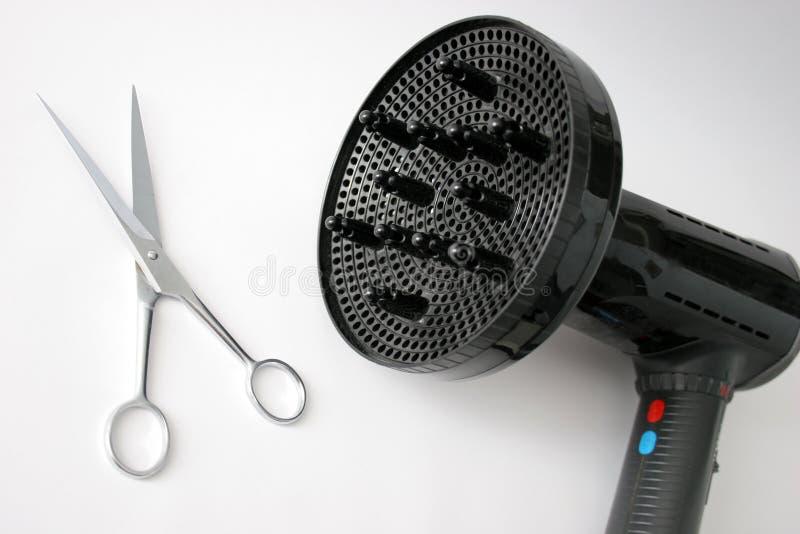 sax för torrare hår arkivfoton