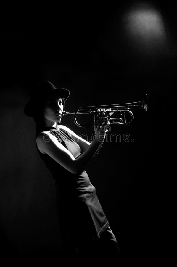 Sax female royalty free stock photo