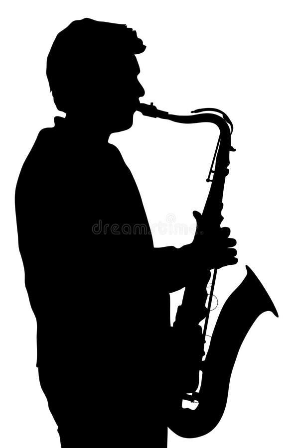 Sax Player Royalty Free Stock Photo
