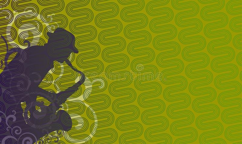Sax Player -green Royalty Free Stock Photo