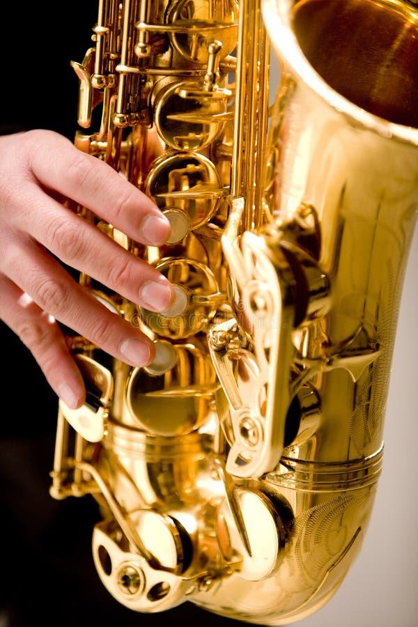 Saxofón imagen de archivo