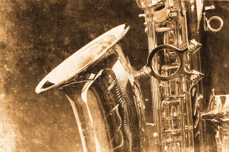 Saxofón stock de ilustración