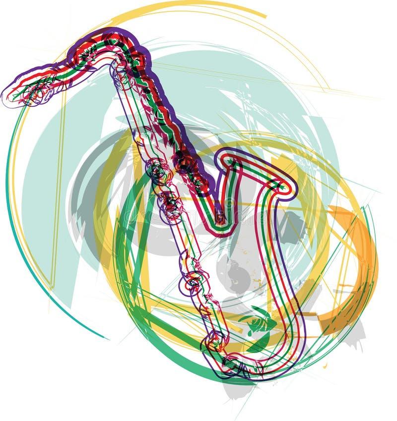 Saxofón abstracto libre illustration