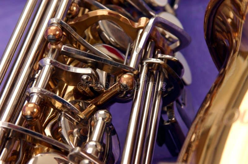 Saxofón casual fotografía de archivo libre de regalías