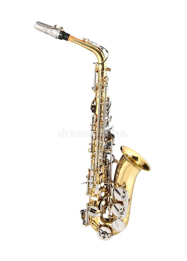Saxofón de tenor fotografía de archivo