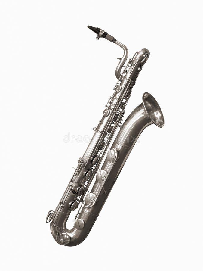 Saxofón del barítono imagenes de archivo
