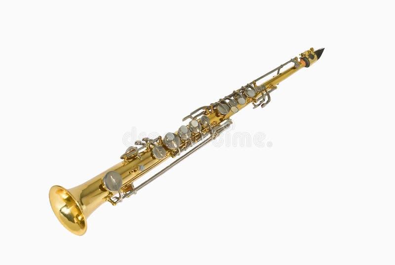Saxofón del soprano fotografía de archivo libre de regalías