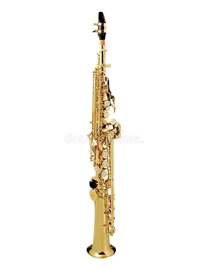 Saxofón del soprano imagen de archivo libre de regalías