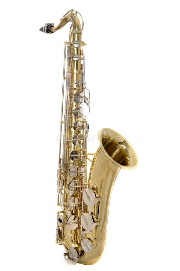 Saxofón del tenor imagenes de archivo