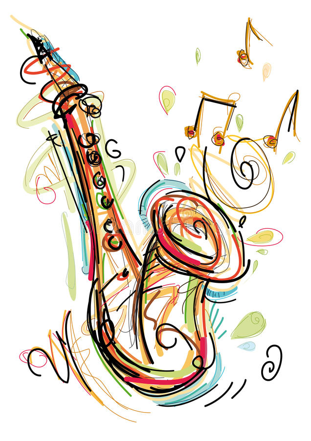 Saxofón incompleto libre illustration