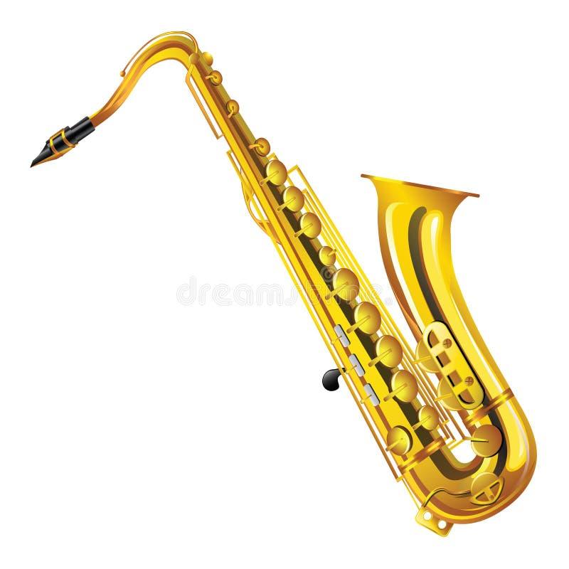 saxofon royaltyfri illustrationer