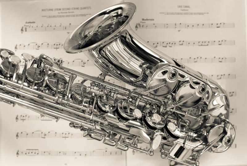 Saxofon royaltyfria foton