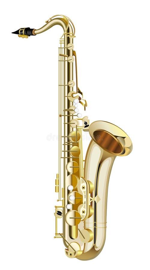 Saxofone ilustração royalty free