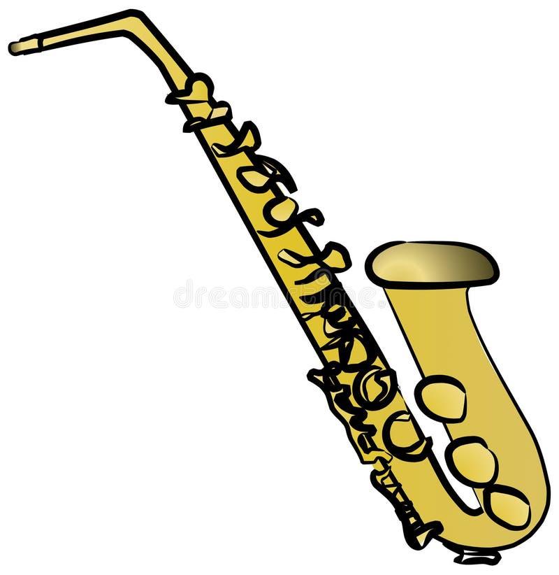 Saxofone ilustração do vetor