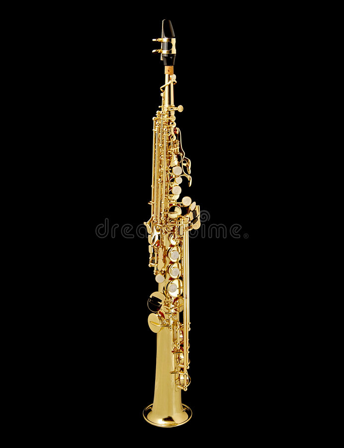 Saxofone do soprano foto de stock royalty free