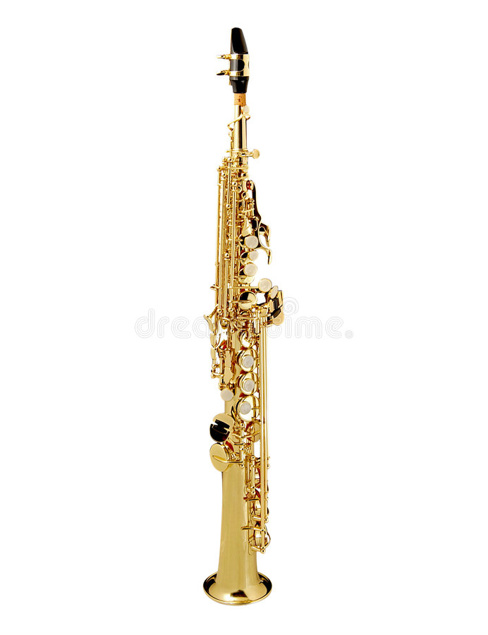Saxofone do soprano imagem de stock royalty free