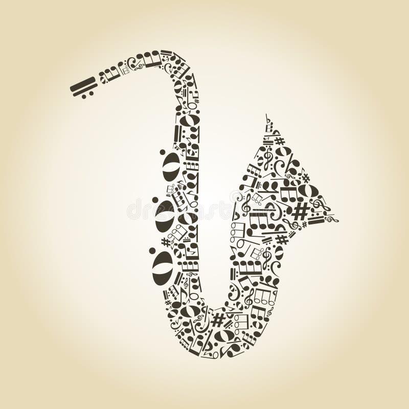 Saxophone3 royaltyfri illustrationer