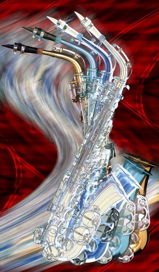 Saxofones fotografía de archivo