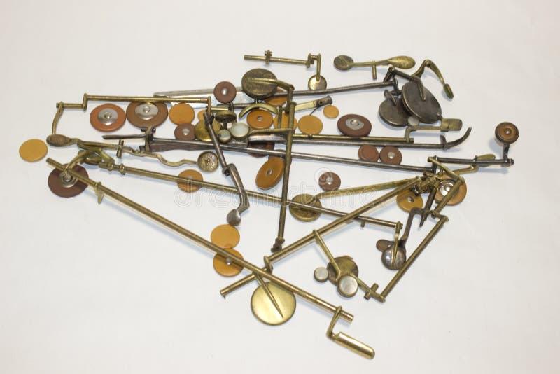 Saxofones, detalhes e almofadas fotografia de stock royalty free