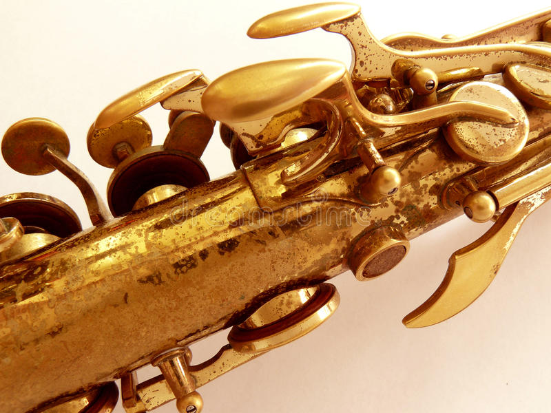 Saxofonfragment arkivbilder