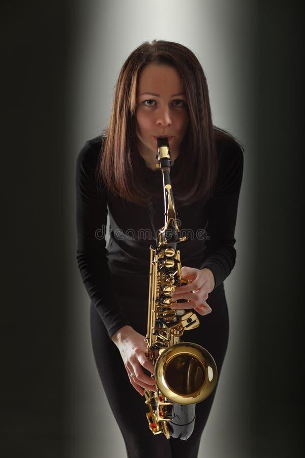 Saxofonist stock foto's