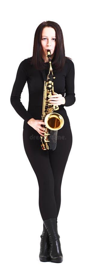 Saxofonist stock afbeeldingen