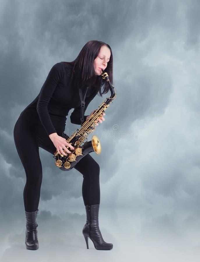 Saxofonist royalty-vrije stock foto