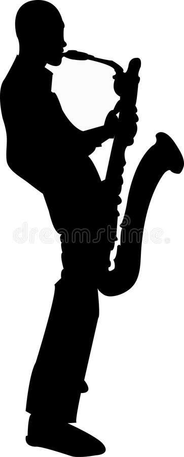 Saxofonist royalty-vrije illustratie
